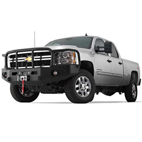 WARN 85887 Chevy SIlverado Black Bumper With Grill & Brush Guard 2011-13