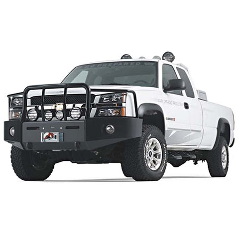 WARN Chevy Black Bumper With Grill & Brush Guards