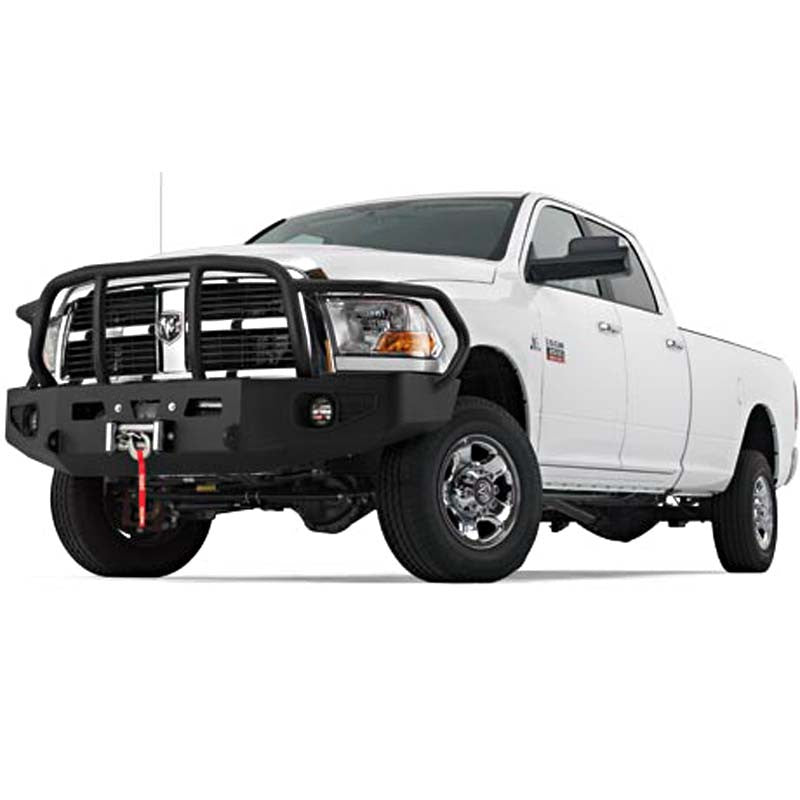 WARN Dodge Ram Black Bumper With Grill and Brush Guard 2011-12