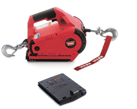 WARN 24V Cordless PullzAll Portable Winch with Extra Battery - Part No. 885005