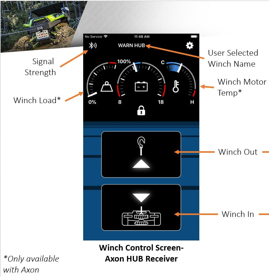 WARN 103940 AXON Wireless Winch Control  System