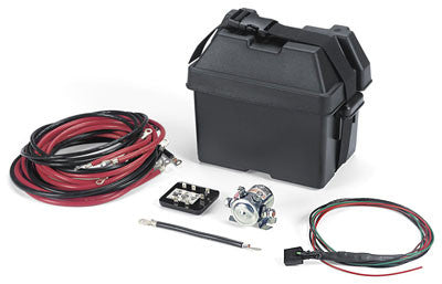 WARN 77977 UTV Dual Battery Control Kit with Battery Box and Hardware