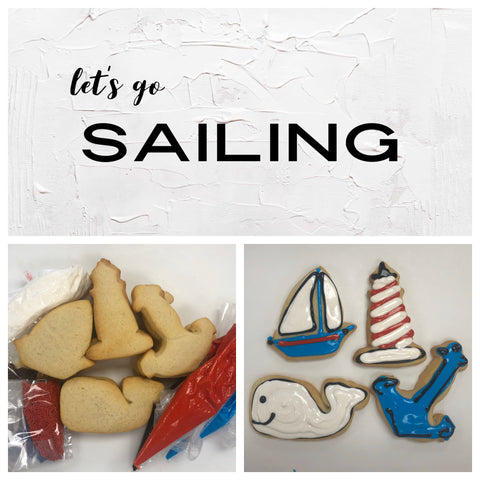 Let's go Sailing Deluxe Cookies To Decorate Kit