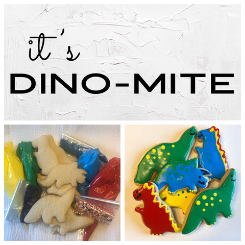 It's Dino-Mite Deluxe Cookies To Decorate Kit