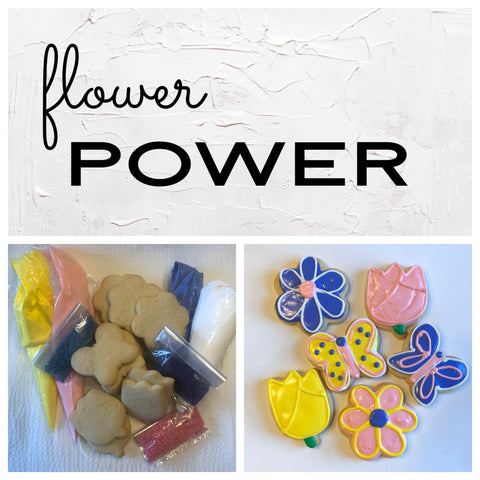 Flower Power Deluxe Cookies To Decorate Kit
