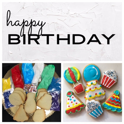 Happy Birthday Deluxe Cookies To Decorate Kit