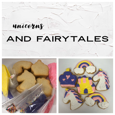 Unicorns and Fairytales Deluxe Cookies To Decorate Kit