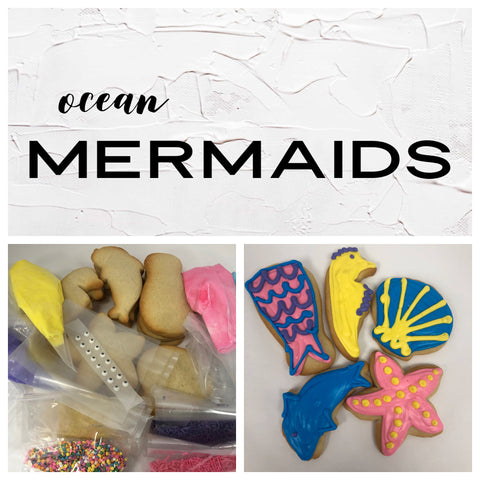 Ocean Mermaids Deluxe Cookies To Decorate Kit