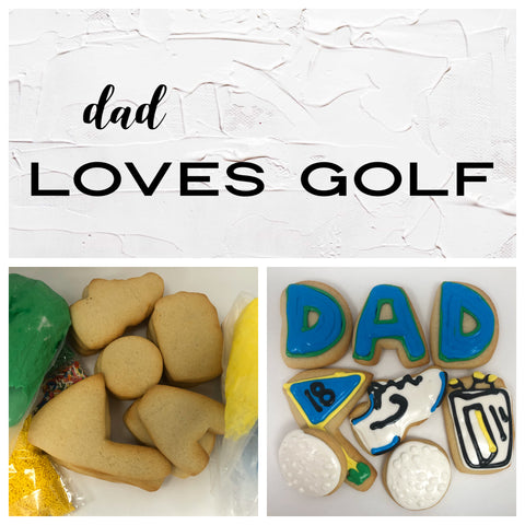 Dad Loves Golf Deluxe Cookies To Decorate Kit