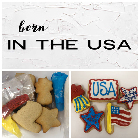 Born in the USA Deluxe Cookies To Decorate Kit