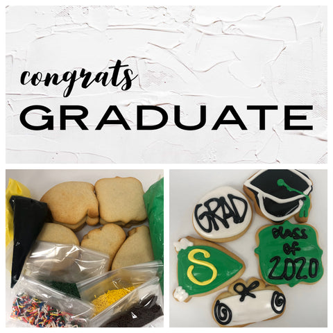 Congrats Graduate Deluxe Cookies To Decorate Kit