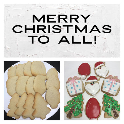 Merry Christmas To All Deluxe Cookies To Decorate Kit