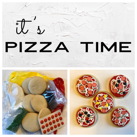 It's Pizza Time Cookie Deluxe Cookie to Decorate Kit