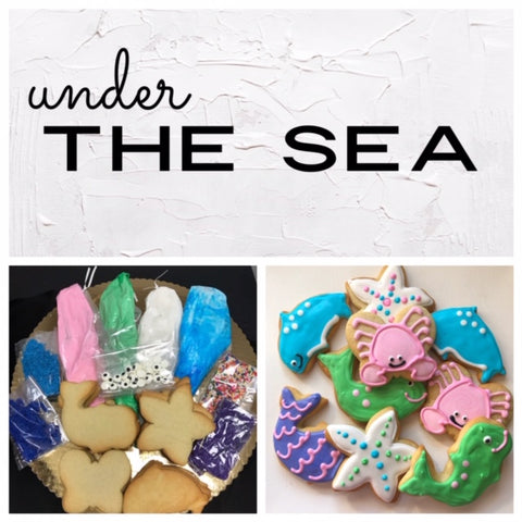 Under the Sea Deluxe Cookies To Decorate Kit