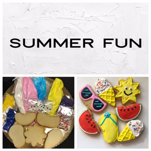 Summer Fun Deluxe Cookies To Decorate Kit