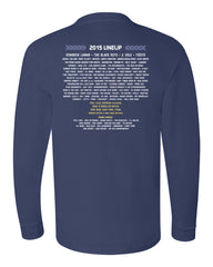 2015 Commemorative Long Sleeve T-Shirt (LINEUP ON BACK)