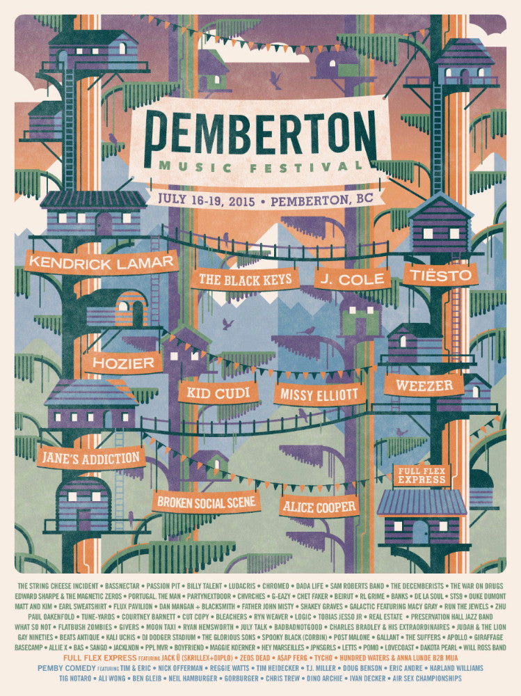 2015 Commemorative Poster With Lineup