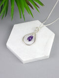 purple-amethyst-droplet-teardrop-silver-jewellery-set