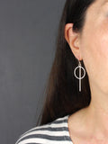 Geometric Circle Bar Earrings