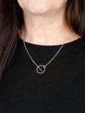 Minimalist Circle Bar Silver Necklace