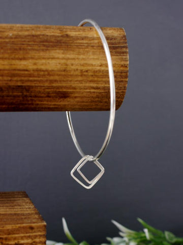Double Square Silver Bangle