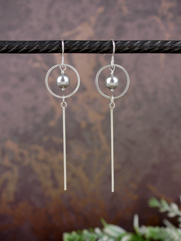 long-grey-crystal-pearl-silver-dangly-earrings