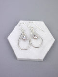 Stylish Pearl Droplet Silver Earrings