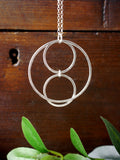 Funky Geometric Circle Necklace
