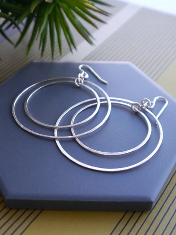 large-double-circle-silver-hook-earrings
