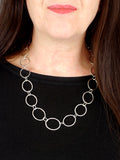 Oval Link Silver Statement Necklace