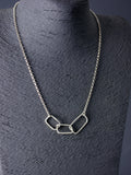 Asymmetrical Statement Silver Linked Necklace