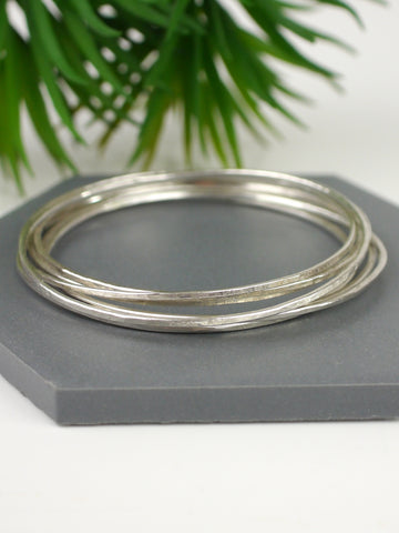 textured-silver-handmade-stacking-bangles