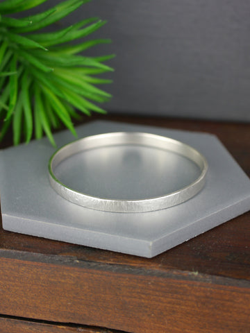 heavy-hammered-textured-small-silver-bangle