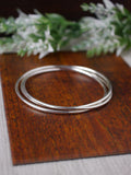 Interlocking Set of Three Silver Bangles