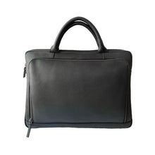 Load image into Gallery viewer, Black Leather Laptop Bag