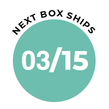 beauty box badge with ship date