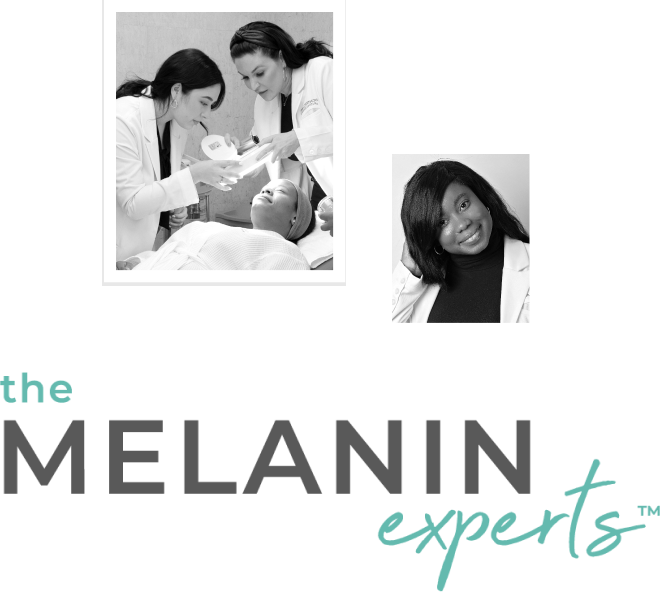 Compilation of aestheticians that make up the The Melanin Experts