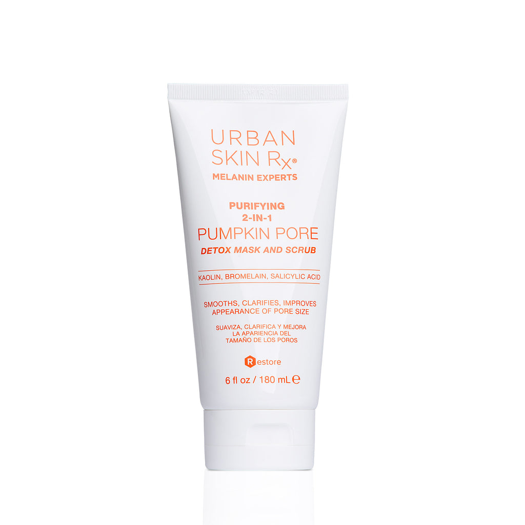 Purifying 2-in-1 Pumpkin Pore Detox Mask & Scrub is a self-warming, dual action mask and scrub that combines detoxifying clay, exfoliating jojoba beads as well as enzymes and vitamins to reduce the appearance of pore size, deep cleanse and rejuvenate the skin. Includes our proprietary formula ClearTone Advanced Technology. In 15 minutes or less your skin will look like it's had the ultimate facial treatment!