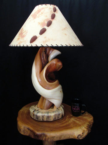 Rustic Juniper Log Table Lamps & Home Lighting