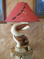 creative lamps twisted wood juniper lighting