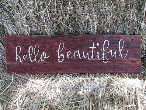 Rustic hand painted Wood Signs With Quotes