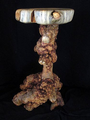 burled wood burl pine natural wood accent table