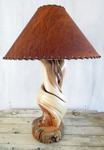twisted juniper furniture wood table lamps