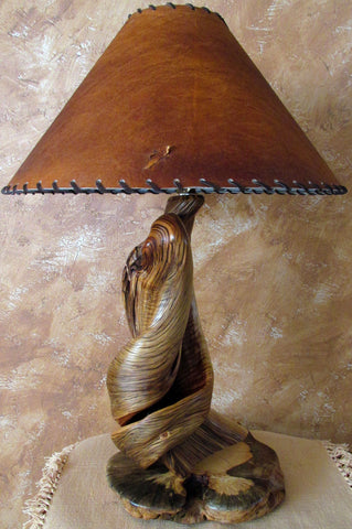 rustic handmade wood table lamps