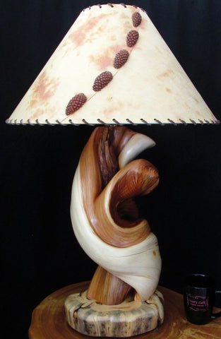 handcrafted creative wood made in the usa lamp