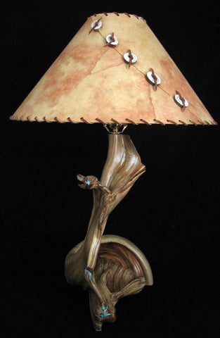 unique wooden table lamp