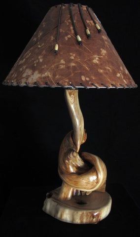 rustic juniper desk lamp
