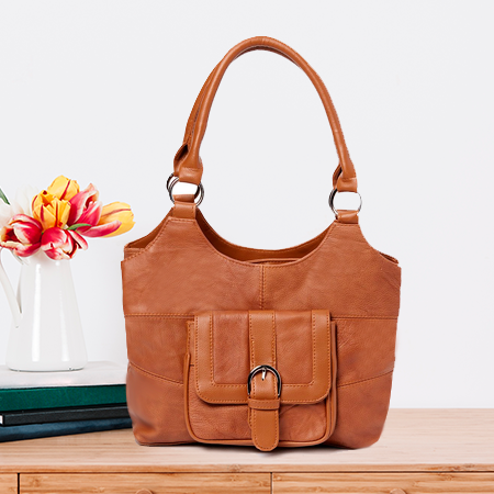 Tan leather Hobo
