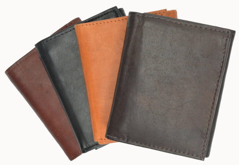 RFID Men's Trifold Leather Wallet RFID Blocking - WholesaleLeatherSupplier.com  - 3