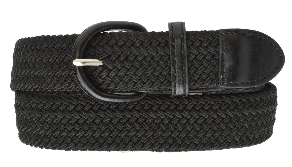 Braided Weave Elastic Stretch Belt